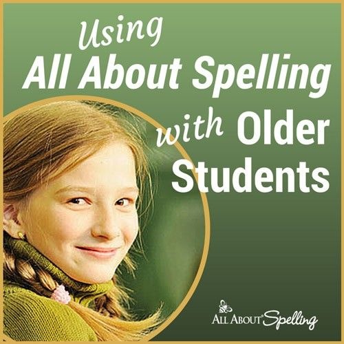 Using All About Spelling with Older Students | All About Learning Press
