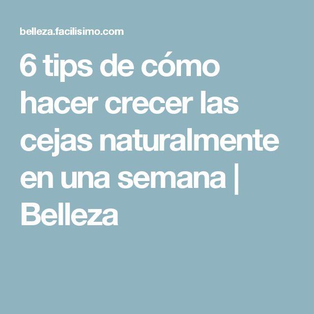 6 tips de cómo hacer crecer las cejas naturalmente en una semana | Belleza