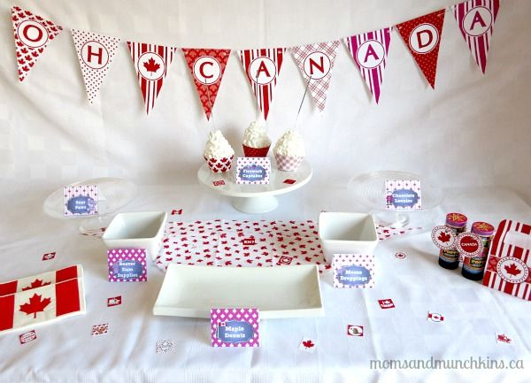 Canada Day Printables (some freebies!) & Recipes