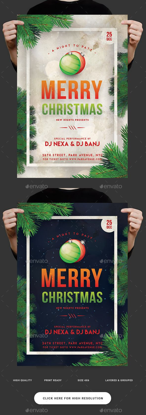 Christmas Flyer Template PSD #xmas