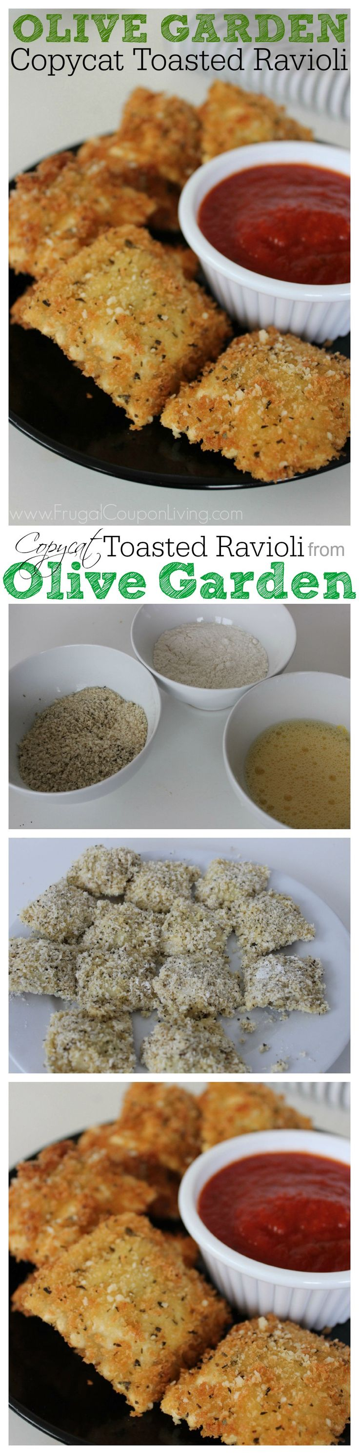 Copycat Recipe! Copycat Olive Garden Toasted Ravioli Recipe – So Delicious! This and copy cat Olive Garden Dressing on Frugal Coupon Living.
