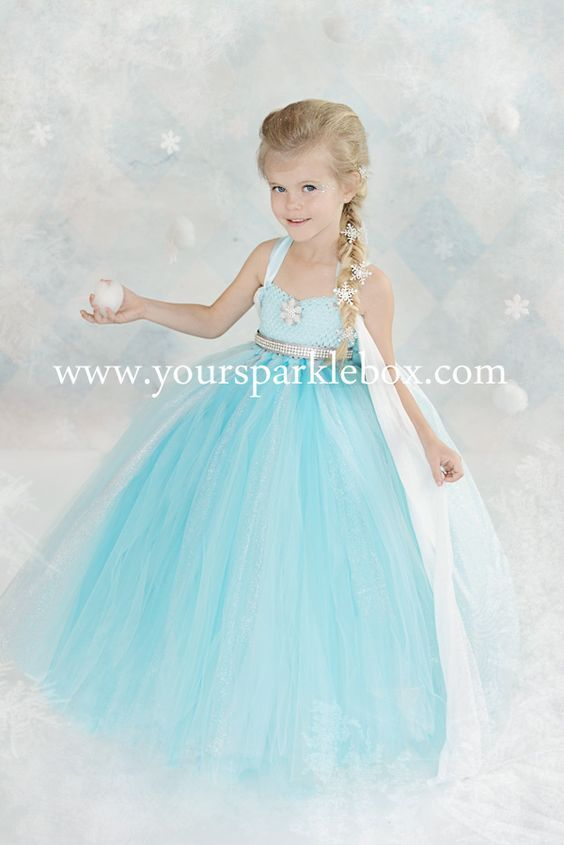 Queen Elsa Tutu Dress Costume by YourSparkleBox: