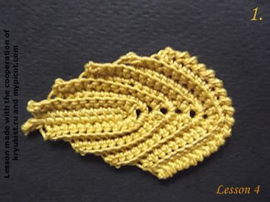 """free crochet pattern for """"Embossed Leaves"""" - by MyPicot 