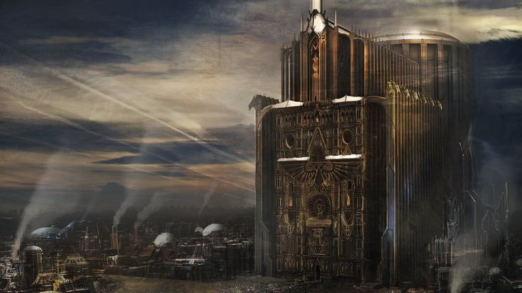Imperial Building Cityscape Sci Fi Worlds Pinterest