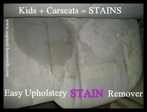 easy car upholstery stain remover recipe upholstery cars and stains. Black Bedroom Furniture Sets. Home Design Ideas