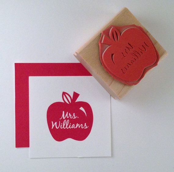 Hey, I found this really awesome Etsy listing at http://www.etsy.com/listing/83629252/teacher-apple-personalized-rubber-stamp