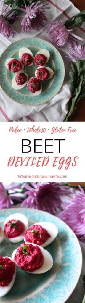 Beet Deviled Eggs - Paleo Gluten Free Whole30
