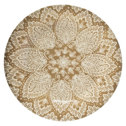 brown paisley dinner plates