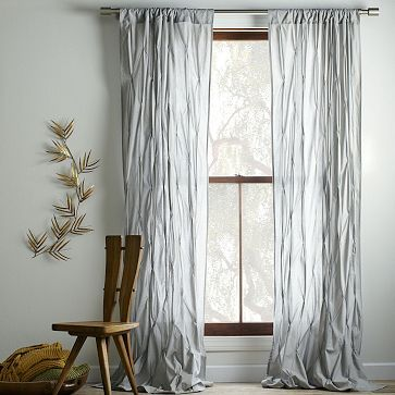 Pintuck Curtain - Platinum