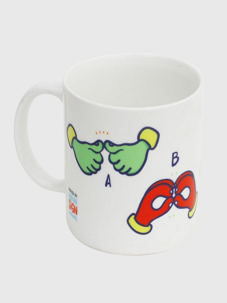 Sign language designs beautifully hand-crafted on the mug