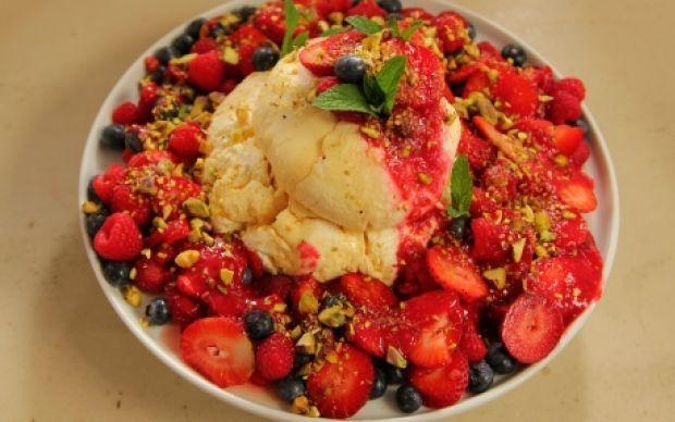 Luscious Labneh with Berries Recipe by Siba Mtongana : Food Network UK