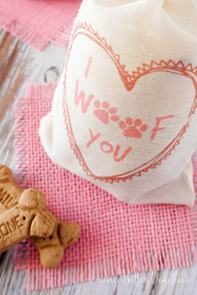 These easy DIY Valentine's Day Dog Treat Bags are the perfect way to show your four-legged friends some love. #TreatThePups #CollectiveBias #Ad