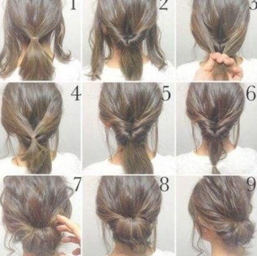 Plus de 18 idées pour faire un chignon en désordre avec des cheveux minces, étape par étape