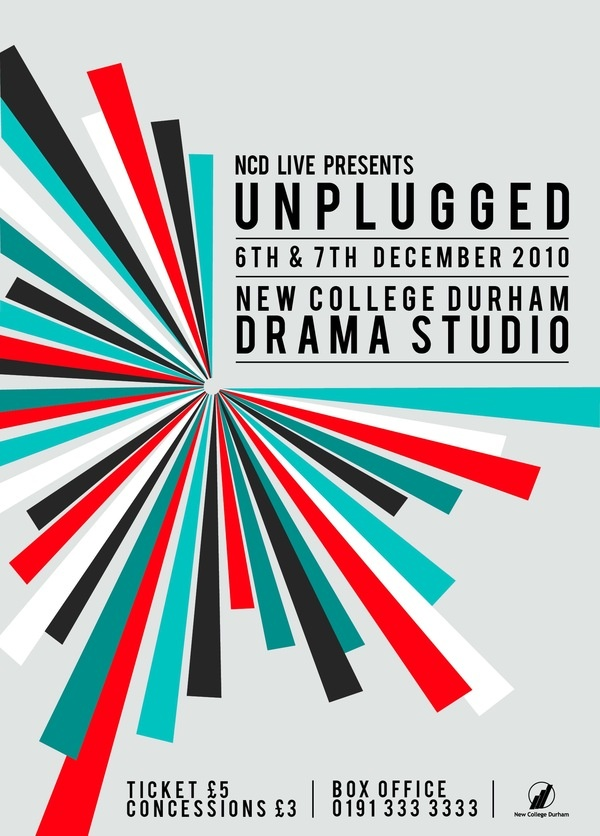 Unplugged Music Event - New College Durham by Jonathan Minns, via Behance