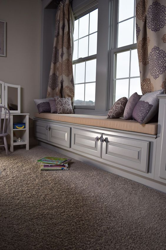 You can't go wrong with a soft plush twist carpet, like the one found in this trendy bedroom. Get the look! | RiteRug Flooring | Home Decor | Home Renovation | Interior Design Inspiration