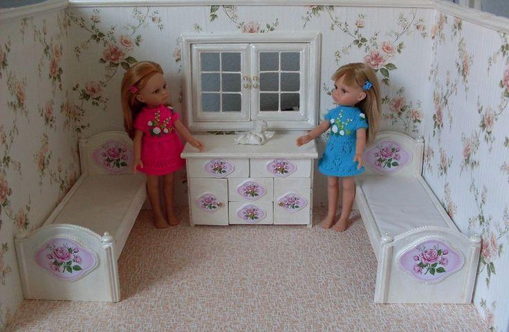 Румбокс (спальня) для кукол подружек Паола Рейна. Часть 2. / Домики для кукол, мебель своими руками. Коляски, кроватки и другое / Бэйбики. Куклы фото. Одежда для кукол