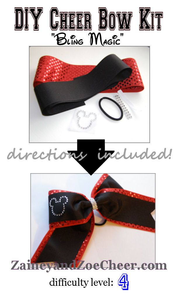 DIY Cheer bow kit- With supplies and directions! Super cute!