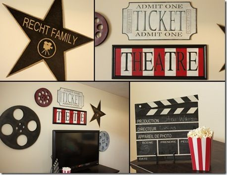Theater room inspiration. I want a room like this!! :)