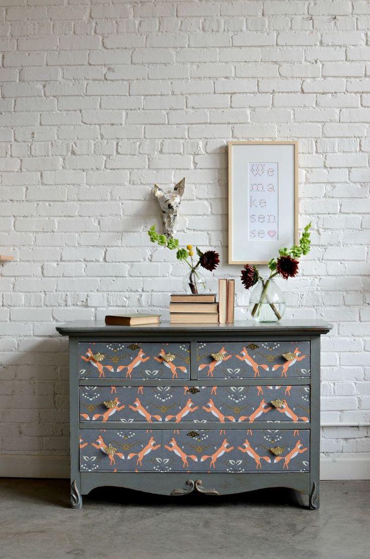 Fabric Fox Bedroom Dresser Makeover | The Thrifty Decorator