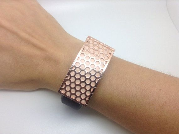 Fitbit Charge & Charge HR wristband slider / cover - Rose Gold tone and…