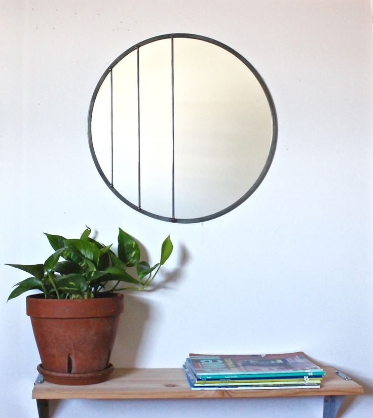 "Large Circle Mirror Handmade Leaded Wall Mirror Round Mirror Oval 18"" Diameter Modern Wall Mirror by fluxglass on Etsy https://www.etsy.com/listing/230820523/large-circle-mirror-handmade-leaded-wall"