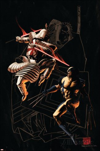 Wolverine No.37 Cover: Wolverine and Silver Samurai Poster van Kaare Andrews bij AllPosters.nl