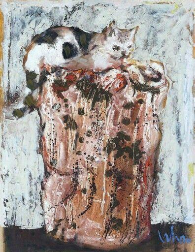 Orhan Peker, Çöp kutusu üzerinde oturan kedi