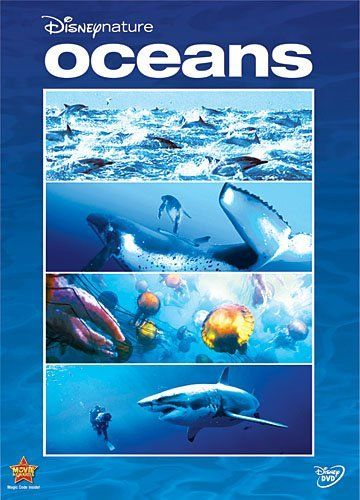 Oceans DVD 591.9 OCE 84 min K-6 Features an exhilarating look under the sea through the eyes of those that live there. Incredible state-of-the-art-underwater filmmaking will take viewers breath away as they migrate with whales, swim alongside a great white shark, and race with dolphins at play. Includes first-ever images of elusive deepwater creatures, featurettes, music video, filmmaker annotations, and more.