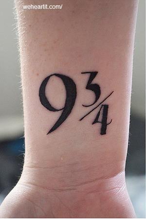 Platform 9 3/4 tattoo