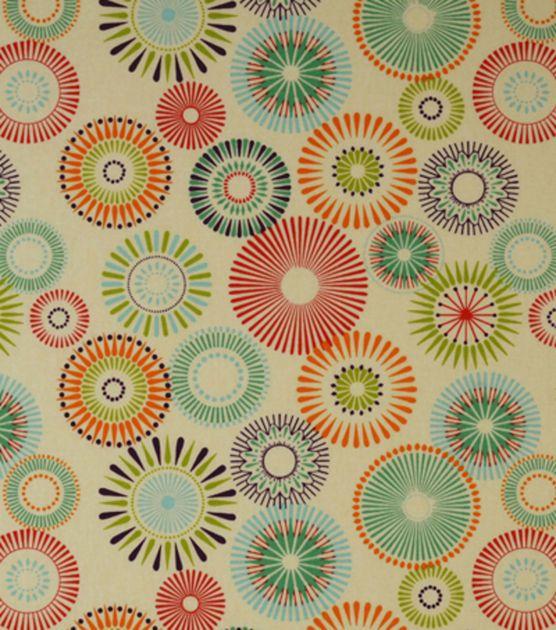 Home Decor Print Fabric Covington Star Burst 147 Sherbet
