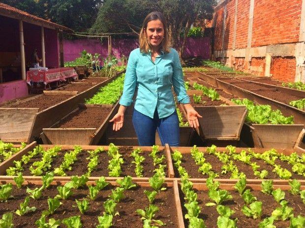 Andreia Costa, bacharel em direito, fundadora da Só Caipira, em Goiânia, Goiás (Foto: Murillo Velasco/G1)