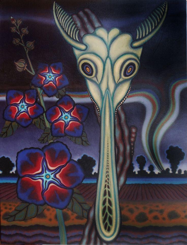 """The Storm Seer (Oklahoma) 20"""" X 16"""" Oil On Canvas 2011"""
