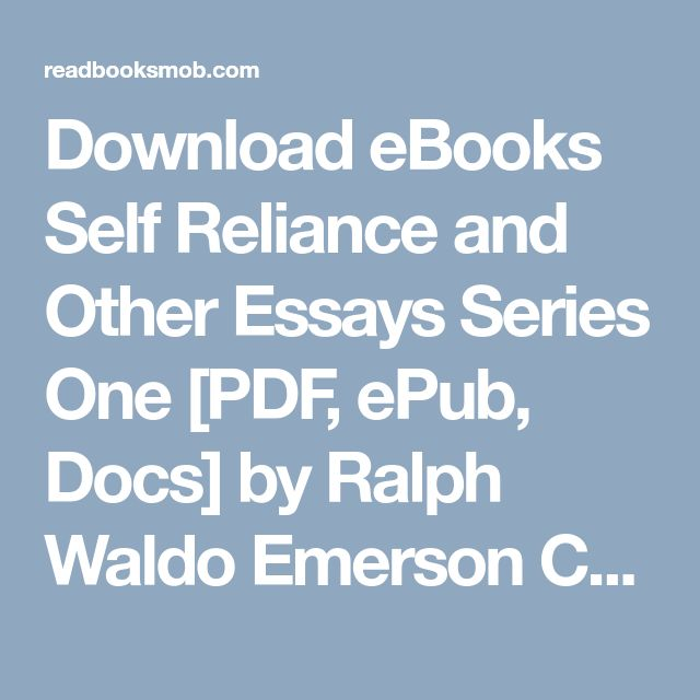 the best emerson self reliance ideas best   ebooks self reliance and other essays series one pdf epub docs