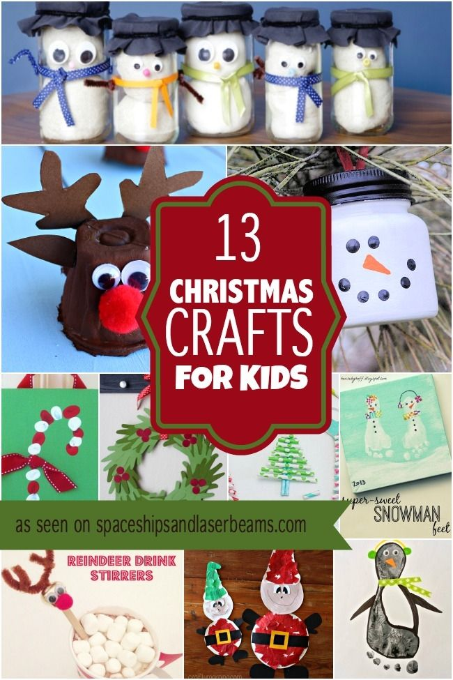 13 Christmas Crafts for Kids 2835 best