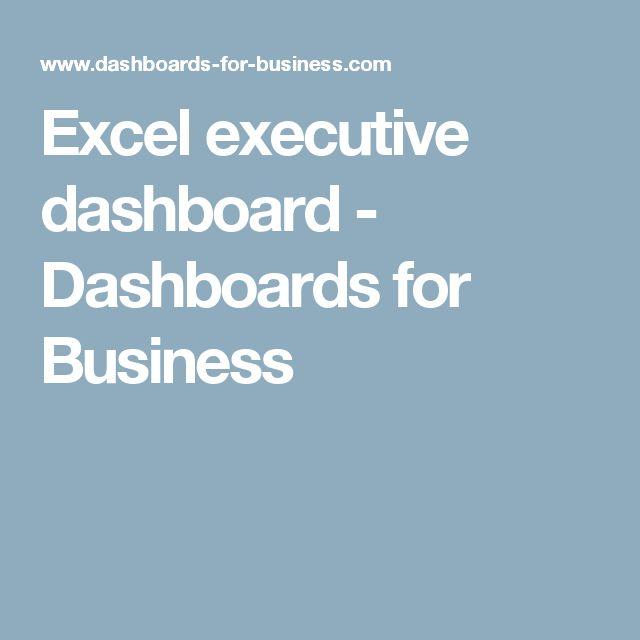 Best 25+ Executive dashboard ideas on Pinterest Dashboard - sample executive report