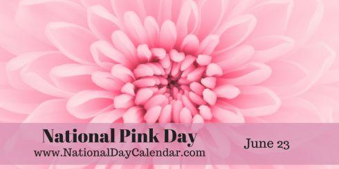 June 23, 2015 - NATIONAL PINK DAY - NATIONAL PECAN SANDIES DAY