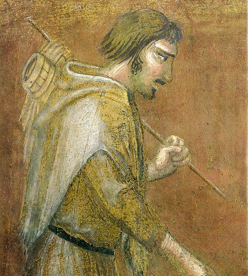 Ambrogio Lorenzetti - Pastore  (Gli Effetti del Buono Governo in città) - affresco - 1338-1339 - Siena - Palazzo Pubblico, Sala dei Nove o Sala della Pace