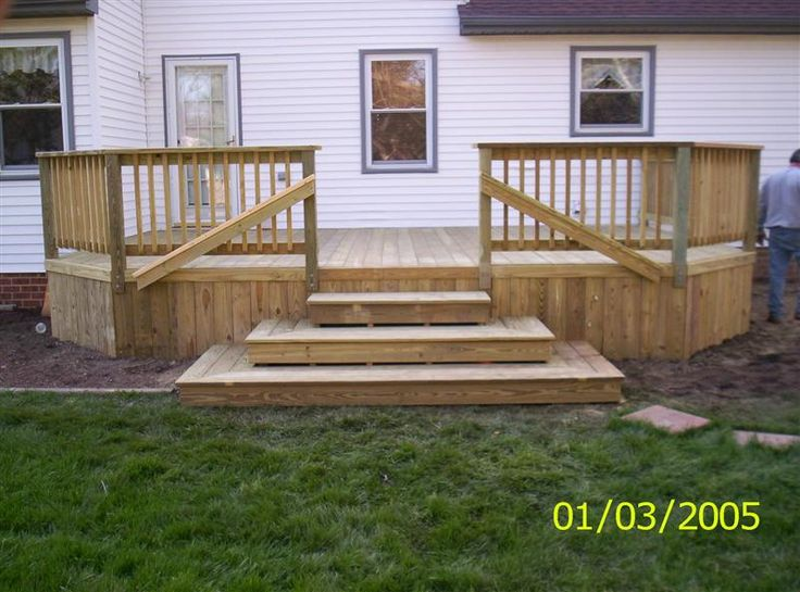 Wood patios wood decks wood decking designs outdoor for Decking for back garden