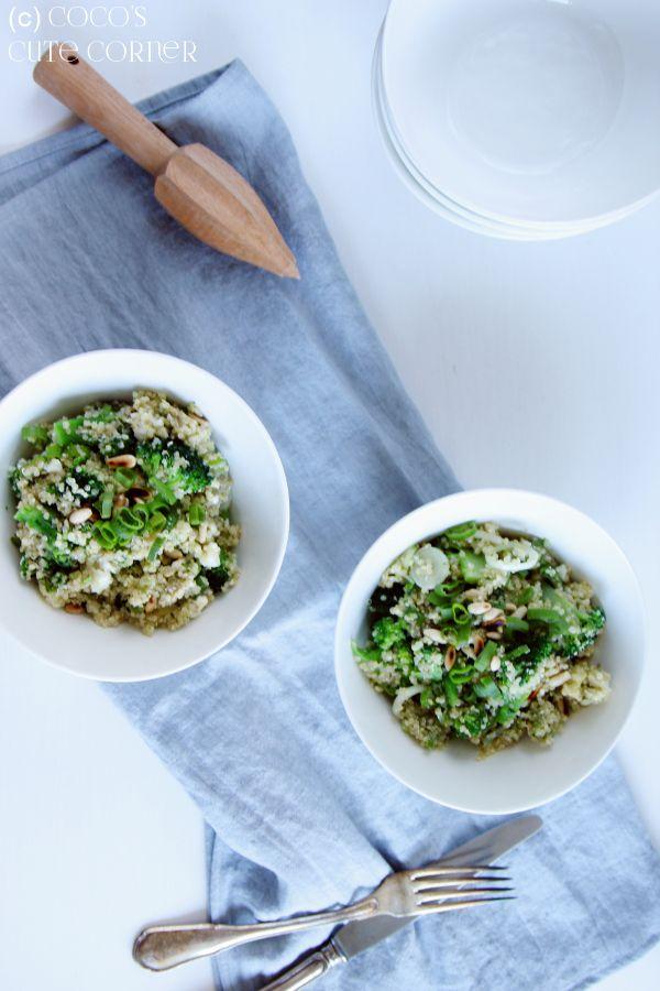 Quinoasalat mit Brokkoli, Avocado und Feta Rezept