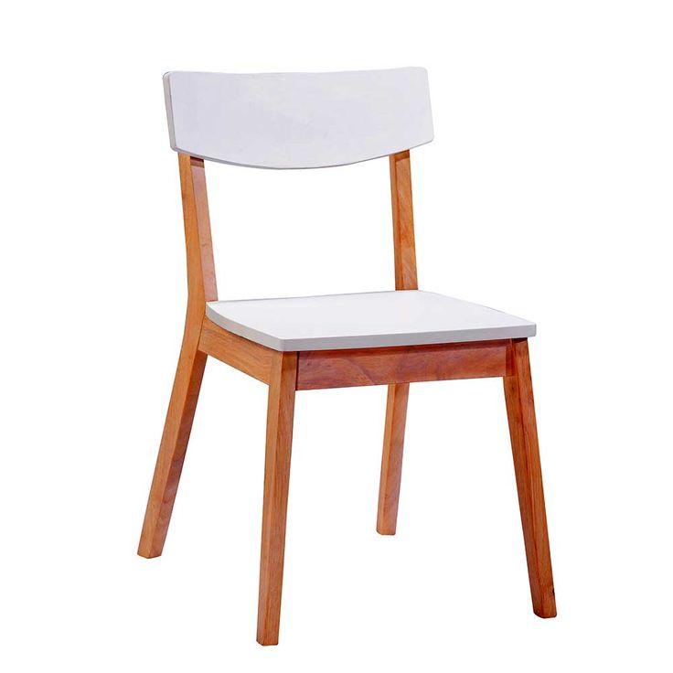 retro stuhl in wei holz massiv 2er set jetzt bestellen. Black Bedroom Furniture Sets. Home Design Ideas