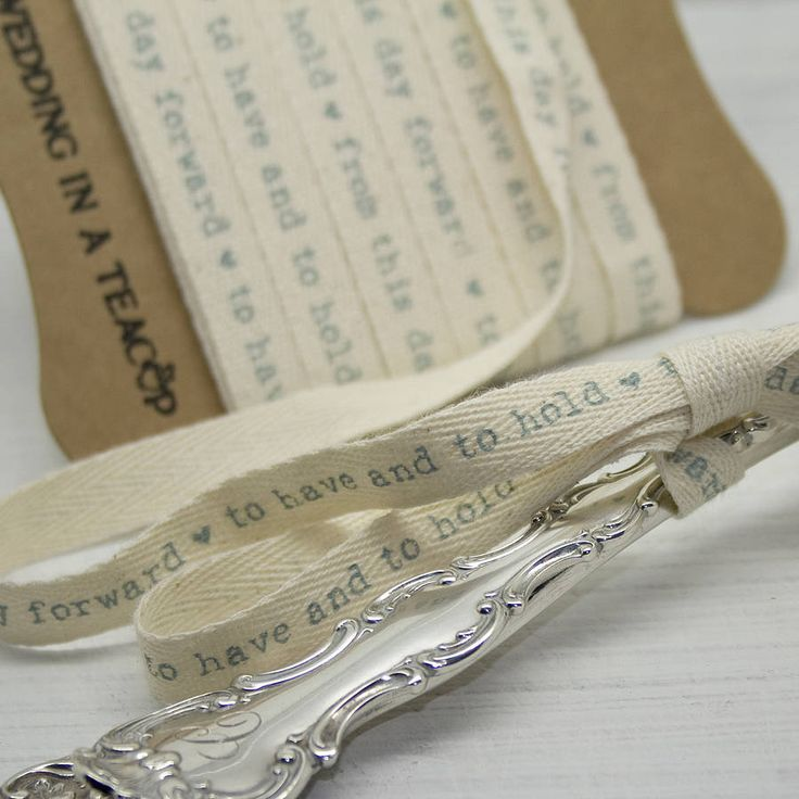 'to have and to hold' cotton ribbon by wedding in a teacup | notonthehighstreet.com