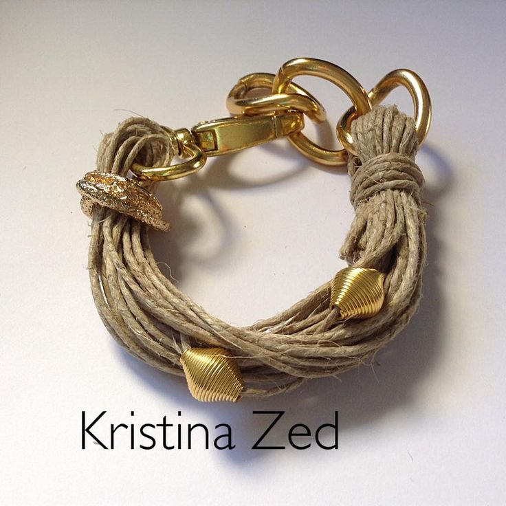 MY HAND MADE JEWELS-LINEN-GOLD BRACELET
