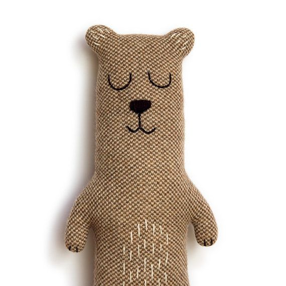 Brian the Bear Lambswool Plush Toy Made to order by saracarr