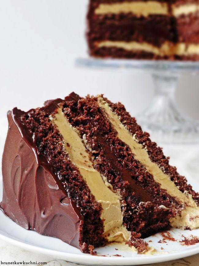 Dekadencki tort czekoladowo-krówkowy/Decadent chocolate-toffee cake...