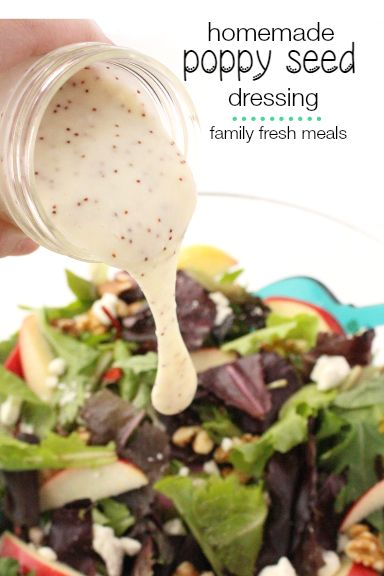 The Best Homemade Poppy Seed Dressing - familyfreshmeals.com --
