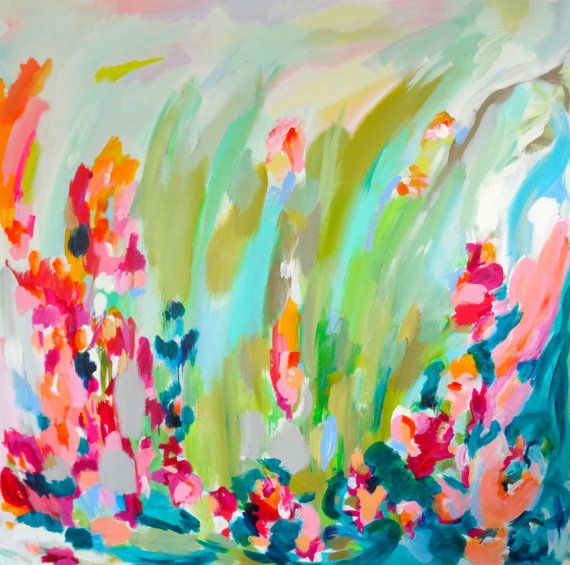 Colorful Bold Bright Abstract Art Painting by susanskelleyart, $540.00 Sold