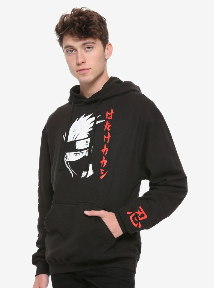 Naruto shippuden black white kakashi hoodie in 2020
