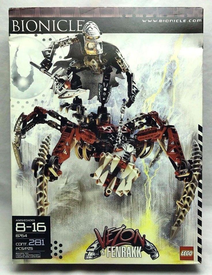 #Lego #Bionicle Piraka 8764 VEZON & FENRAKK Glow in Dark Teeth/Light-Up Eyes 100%  #Lego