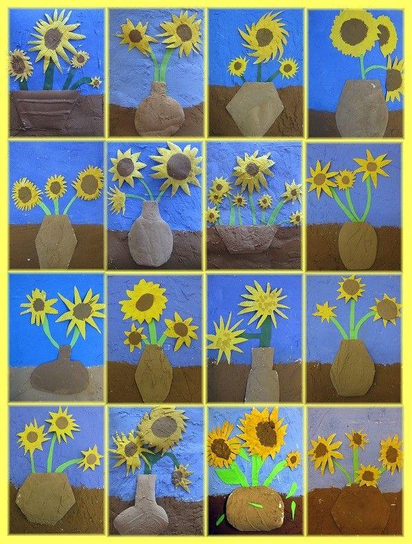 Sunflower in vase art