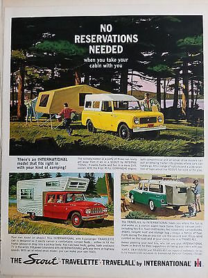 1962 International Harvester Co Scout Truck Travelette Travelall Original Ad